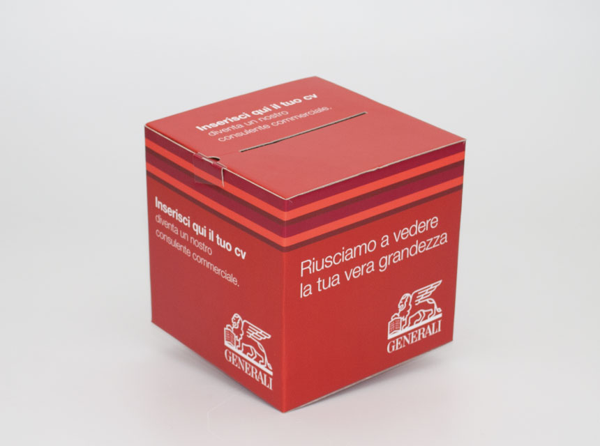 Scatola cubo per urna - Packaging - Page Service - pageservice.it